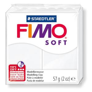 STAEDTLER FIMO soft 8020 Modelliermasse -  weiß - 57 g