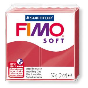 STAEDTLER FIMO soft 8020 Modelliermasse - kirschrot - 57 g