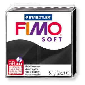 STAEDTLER FIMO soft 8020 Modelliermasse - schwarz - 57 g