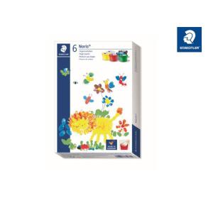 STAEDTLER Noris junior 881 Fingermalfarbe - 6 Farben