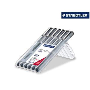 STAEDTLER pigment liner 308 Fineliner - schwarz - 6...