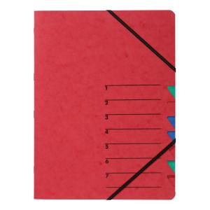 Ordnungsmappe Easy 7-teilig Karton rot
