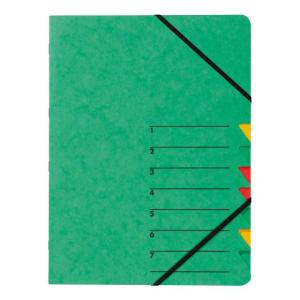 Ordnungsmappe Easy 7-teilig Karton grün
