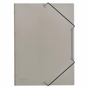 FolderSys Eckspanner-Mappe, PP, A4, rauch transparent, 1...
