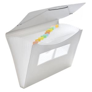 FolderSys Fächer-Tasche PP, 12er, transparent rauch