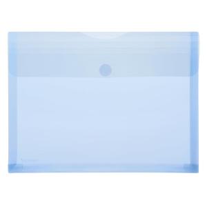 FolderSys PP-Umschlag A4, Dehnfalten, trans blau, 1...