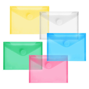 FolderSys PP-Umschlag A6quer, farb.sort klar, 10 Stück