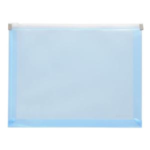 FolderSys Gleitverschluss-Beutel, A5, Dehnfalte, PP blau tr