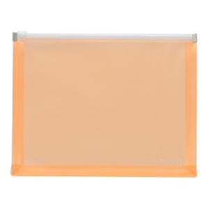 FolderSys Gleitverschluss-Beutel, A5, Dehnfalte, PP orange