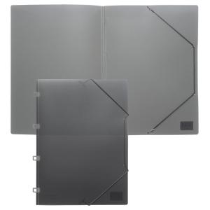 FolderSys Eckspannmappe, PP, A4, anthrazit transparent