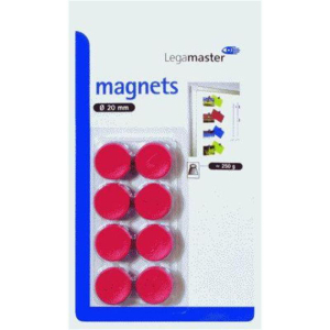 Legamaster Haftmagnet 20mm rot  8St