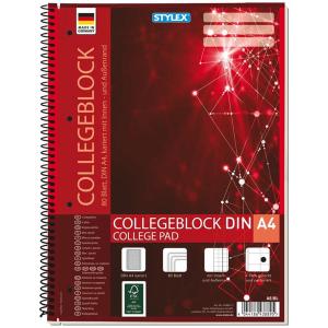 Stylex Collegeblock - DIN A4 - kariert - 80 Blatt