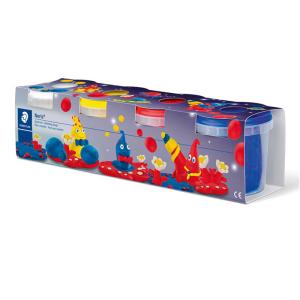 STAEDTLER Noris 8134 Spielknete - 4 Töpfe je 130 g -...