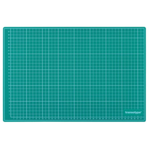 transotype Schneidematten grün/schwarz 600 x 450 mm