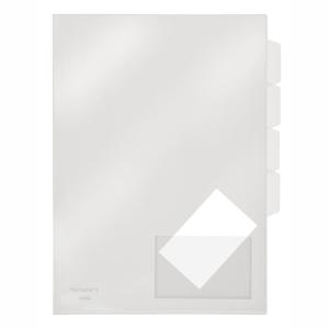FolderSys Sichthülle A4 m. Register, o.+r. offen,...