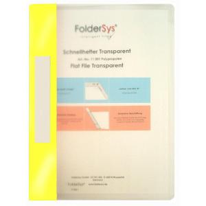FolderSys Schnellhefter, Transparent, gelb