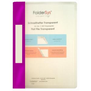 FolderSys Schnellhefter, Transparent, lila