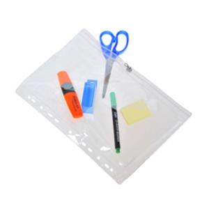 FolderSys Sammelhülle A4 aus PVC mit Zip, klar, 1...