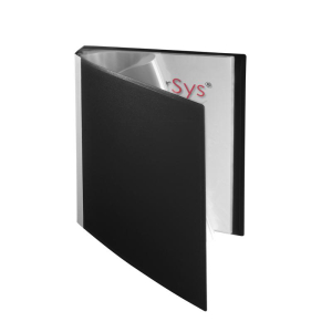 FolderSys Sichtbuch, 30 Hüllen, PP, schwarz