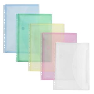 FolderSys Transparent-Umschlag, Dehnfalte, Abheftrand, A4,