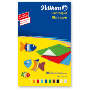 Pelikan Glanzpapier 232 - Mappe mit 10 Blatt - 10 Farben