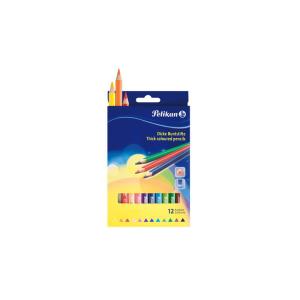 Pelikan Jumbo-Buntstifte - dreikantig - lackiert - 12...
