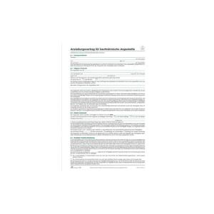 RNK Anstellungsvertrag DIN A4 für kaufmännische...
