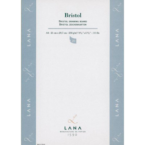Lana Bristol Zeichenblock - 250g/m² - DIN A4 - 20 Blatt