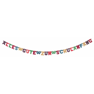Stylex Girlande - Alles Gute zum Schulanfang - farbig
