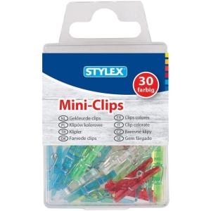 Stylex Mini-Wäscheklammern - farbig - 30er Schachtel