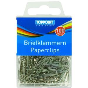 Stylex Briefklammern - Metall - blank - 100er Schachtel