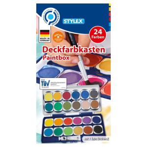 Stylex Deckfarbkasten - 24 Farben