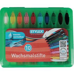 Stylex Wachsmalstifte - wasservermalbar - in...
