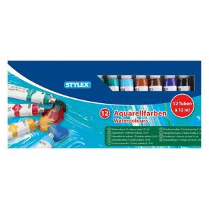 Stylex Aquarellfarbe - 12 Tuben à 12 ml