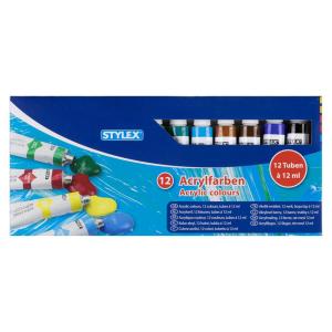 Stylex Acrylfarbe - 12er Schachtel à 12 ml