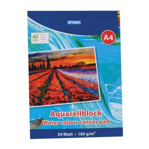 Stylex Aquarellblock - DIN A4 - 185 g/m² - 24 Blatt