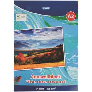 Stylex Aquarellblock - DIN A3 - 185 g/m² - 24 Blatt