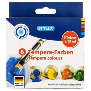 Stylex Temperafarben - 6 Tuben à 19 ml