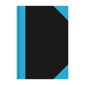 Stylex Kladde - DIN A4 - liniert - schwarz/blau - 192 Seiten