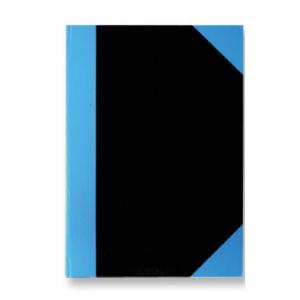 Stylex Kladde - DIN A6 - liniert - schwarz/blau - 192 Seiten