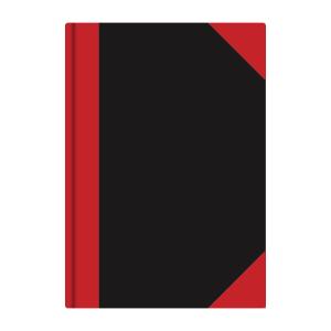 Stylex Kladde - DIN A4 - kariert - schwarz/rot - 192 Seiten