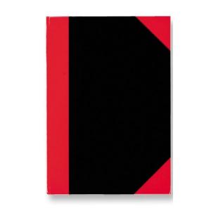 Stylex Kladde - DIN A6 - kariert - schwarz/rot - 192 Seiten