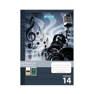 Stylex Notenheft - DIN A5 - Lineatur 14 - 16  Blatt