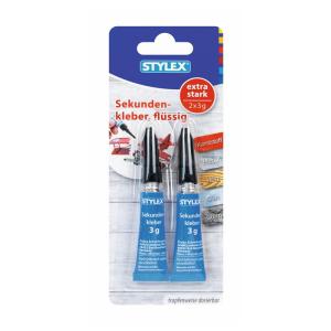 Stylex Sekundenkleber - 2 Tuben, à 3 g