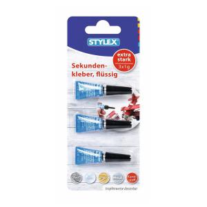 Stylex Sekundenkleber - 3 Tuben, à 1 g