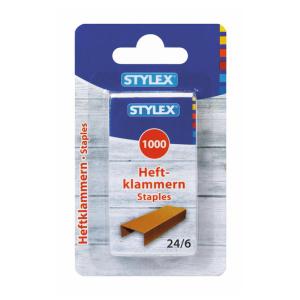 Stylex Heftklammern - 24/6 - verkupfert - 1000 Stück