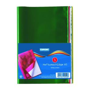 Stylex Heftumschläge - DIN A5 - PP - transparent - 5...