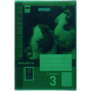 Stylex Heftumschlag - DIN A5 - PP - grün-transparent