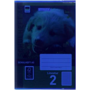 Stylex Heftumschlag - DIN A5 - PP - blau-transparent