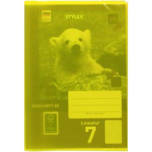 Stylex Heftumschlag - DIN A5 - PP - gelb-transparent